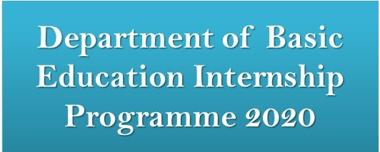 Department of Basic Education Internship Programme 2020