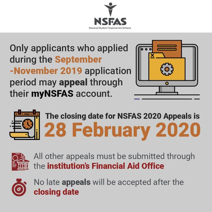 nsfas appeal 2020 closing date