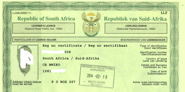 Learners Licence South Africa- How to Acquire It