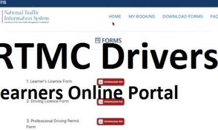 RTMC Drivers and Learners Online Portal