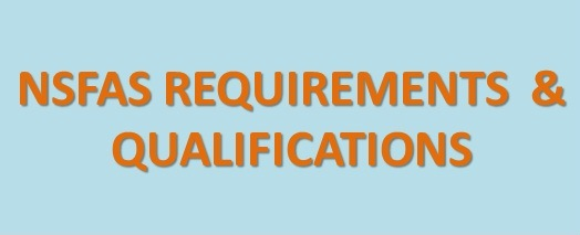 NSFAS Requirements and Qualification 2020