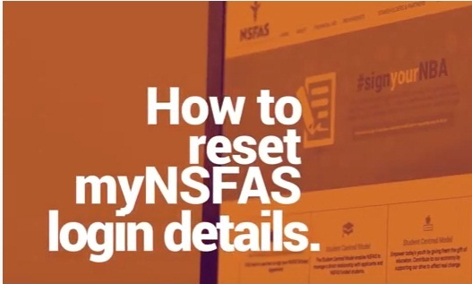 Reset  NSFAS Password and Username