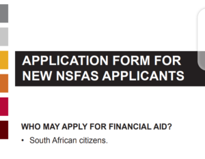nsfas application form for new applicants
