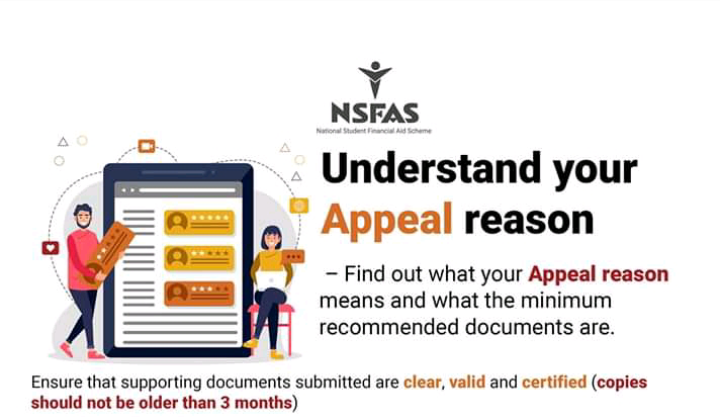 nsfas appeal reasons and supporting documents