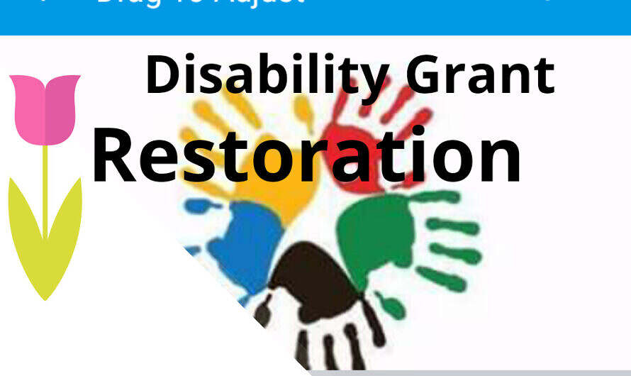 SASSA Official Statement :Strategy for Restoring Lapsing Disability Grants