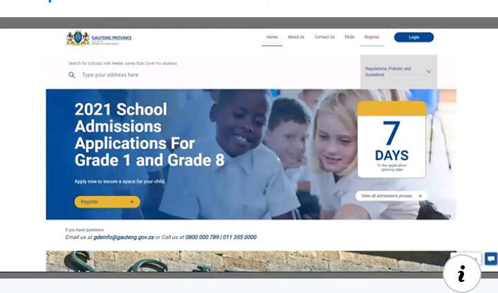 GDE Admissions 2021 Online Applications for Grade 1 and 8